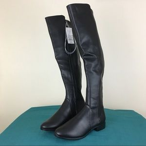 A New Day Black Breanna Over The Knee Riding Boots